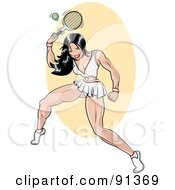 Royalty Free RF Clipart Illustration Of A Sexy Pinup Tennis Player Woman