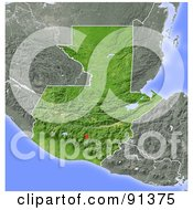 Royalty Free RF Clipart Illustration Of A Shaded Relief Map Of Guatemala