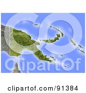 Royalty Free RF Clipart Illustration Of A Shaded Relief Map Of Papua New Guinea