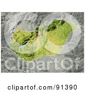 Royalty Free RF Clipart Illustration Of A Shaded Relief Map Of Hungary