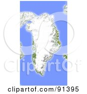 Royalty Free RF Clipart Illustration Of A Shaded Relief Map Of Greenland