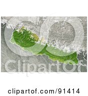 Royalty Free RF Clipart Illustration Of A Shaded Relief Map Of Nepal by Michael Schmeling #COLLC91414-0128