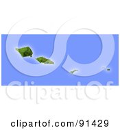 Royalty Free RF Clipart Illustration Of A Shaded Relief Map Of Samoa And American Samoa