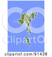 Royalty Free RF Clipart Illustration Of A Shaded Relief Map Of Faroe Islands