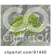 Royalty Free RF Clipart Illustration Of A Shaded Relief Map Of Switzerland