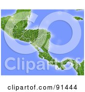 Royalty Free RF Clipart Illustration Of A Shaded Relief Map Of Central America