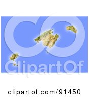 Royalty Free RF Clipart Illustration Of A Shaded Relief Map Of Mallorca
