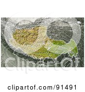 Royalty Free RF Clipart Illustration Of A Shaded Relief Map Of Tibet