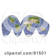 Royalty Free RF Clipart Illustration Of A Shaded Relief World Map
