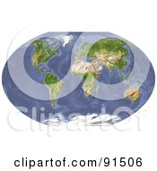 Royalty Free RF Clipart Illustration Of A World Map Shaded Relief by Michael Schmeling