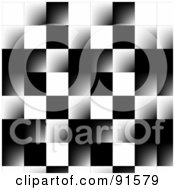Royalty Free RF Clipart Illustration Of A Beveled Checker Background by Arena Creative