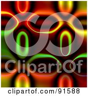 Royalty Free RF Clipart Illustration Of A Funky Colorful Background With Pill Shapes