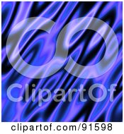 Royalty Free RF Clipart Illustration Of A Black And Blue Flame Background