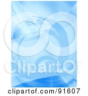 Royalty Free RF Clipart Illustration Of A Blue Fractal Spiral Background
