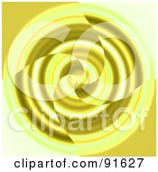 Royalty Free RF Clipart Illustration Of A Yellow Swirl Background