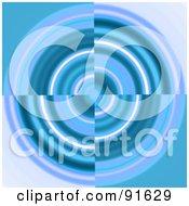 Royalty Free RF Clipart Illustration Of A Blue Swirl Vortex Background