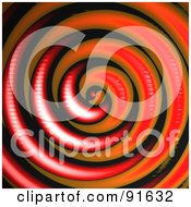 Royalty Free RF Clipart Illustration Of A Red Orange And Black Swirling Background