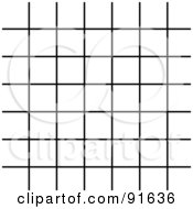 Royalty Free RF Clipart Illustration Of A Black Grid Over White
