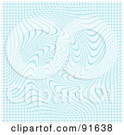 Royalty Free RF Clipart Illustration Of A Swirly Blue Grid Background