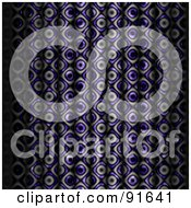 Royalty Free RF Clipart Illustration Of A Funky Black And Purple Curtain Background by Arena Creative