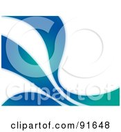 Royalty Free RF Clipart Illustration Of A Blue And Green Swoosh Background by Arena Creative