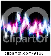 Royalty Free RF Clipart Illustration Of A Bright Fractal Equalizer On Black by Arena Creative