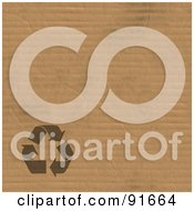 Royalty Free RF Clipart Illustration Of A Recycle Symbol In The Lower Left Corner Of Corrugated Cardboard