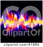 Royalty Free RF Clipart Illustration Of A Colorful And Bright Wave Form Equalizer Over Black by Arena Creative