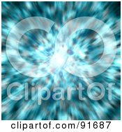 Royalty Free RF Clipart Illustration Of A Background Of Bursting Blurry Blue Light