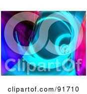 Royalty Free RF Clipart Illustration Of A Pink Purple And Blue Fractal Tunnel