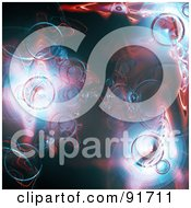 Royalty Free RF Clipart Illustration Of A Blue And Pink Plasma Blob Background by Arena Creative