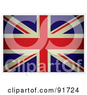Royalty Free RF Clipart Illustration Of A Dark Flat Aged British Flag by michaeltravers