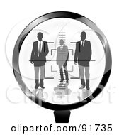 Royalty Free RF Clipart Illustration Of A Rifle Target Focused On Businessmen