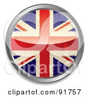 Royalty Free RF Clipart Illustration Of A Distressed British Flag App Button by michaeltravers
