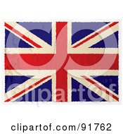 Royalty Free RF Clipart Illustration Of A Distressed Grungy Flat Aged British Flag by michaeltravers