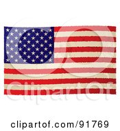 Distressed Grungy American Flag by michaeltravers