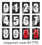 Royalty Free RF Clipart Illustration Of A Digital Collage Of White And Red Clock Counter Digits by michaeltravers
