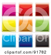 Royalty Free RF Clipart Illustration Of A Digital Collage Of Vibrant Shiny Square App Buttons