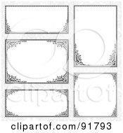 Digital Collage Of Certificate Borders - 12