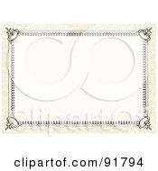 Royalty Free RF Clipart Illustration Of An Elegant Certificate Frame 1 by BestVector