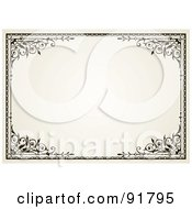 Royalty Free RF Clipart Illustration Of An Elegant Certificate Frame 2 by BestVector