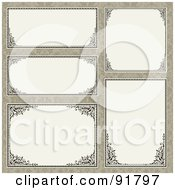 Royalty Free RF Clipart Illustration Of A Digital Collage Of Certificate Borders 15 by BestVector