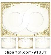 Digital Collage Of Certificate Borders - 7