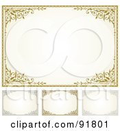 Royalty Free RF Clipart Illustration Of A Digital Collage Of Certificate Borders 7 by BestVector