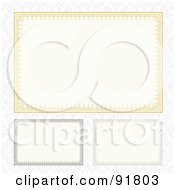 Royalty Free RF Clipart Illustration Of A Digital Collage Of Certificate Borders 1 by BestVector