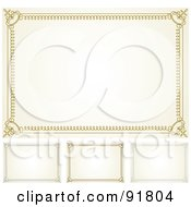 Royalty Free RF Clipart Illustration Of A Digital Collage Of Certificate Borders 2 by BestVector