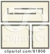 Royalty Free RF Clipart Illustration Of A Digital Collage Of Certificate Borders 17 by BestVector