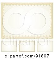 Royalty Free RF Clipart Illustration Of A Digital Collage Of Certificate Borders 8 by BestVector