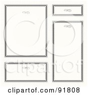 Royalty Free RF Clipart Illustration Of A Digital Collage Of Certificate Borders 16 by BestVector