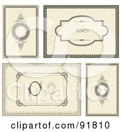 Royalty Free RF Clipart Illustration Of A Digital Collage Of Certificate Borders 13 by BestVector